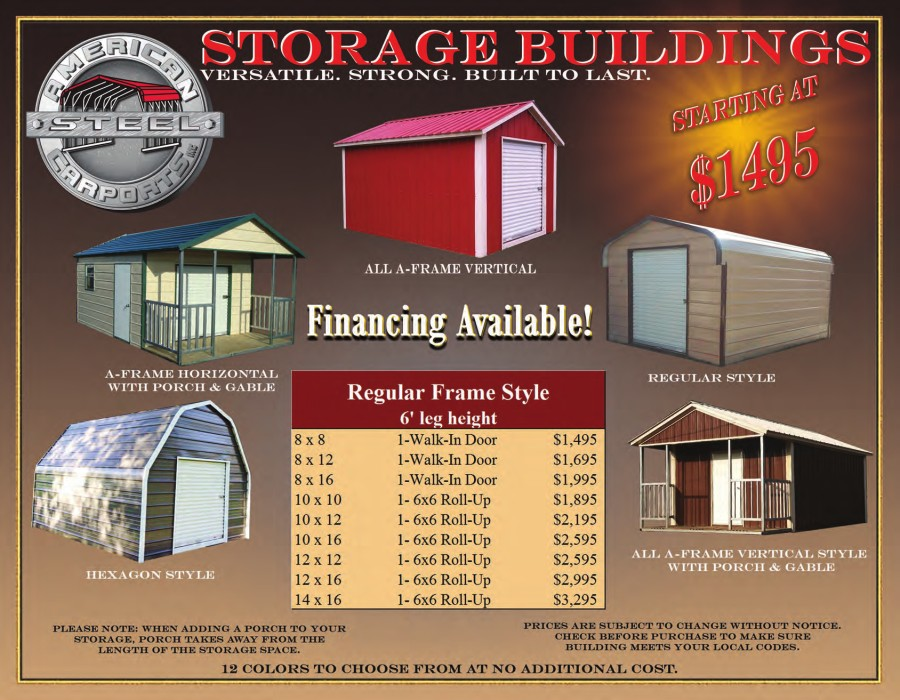 Storage Buildings pricing | texasqualitybuildings.com