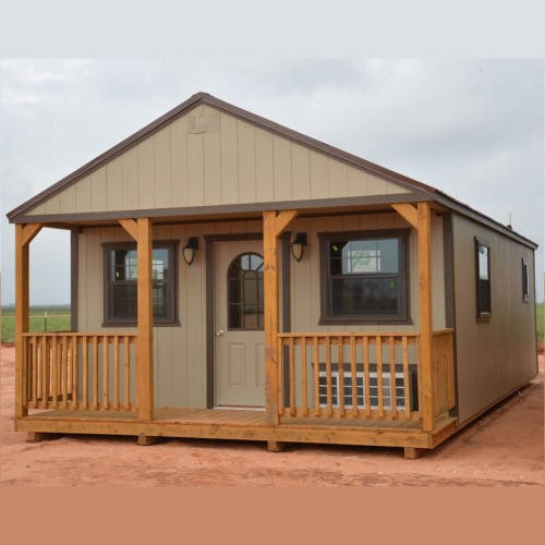 Bon Finished Derksen Portable Buildings Info | Texasqualitybuildings.com. Finished  Cabin ...