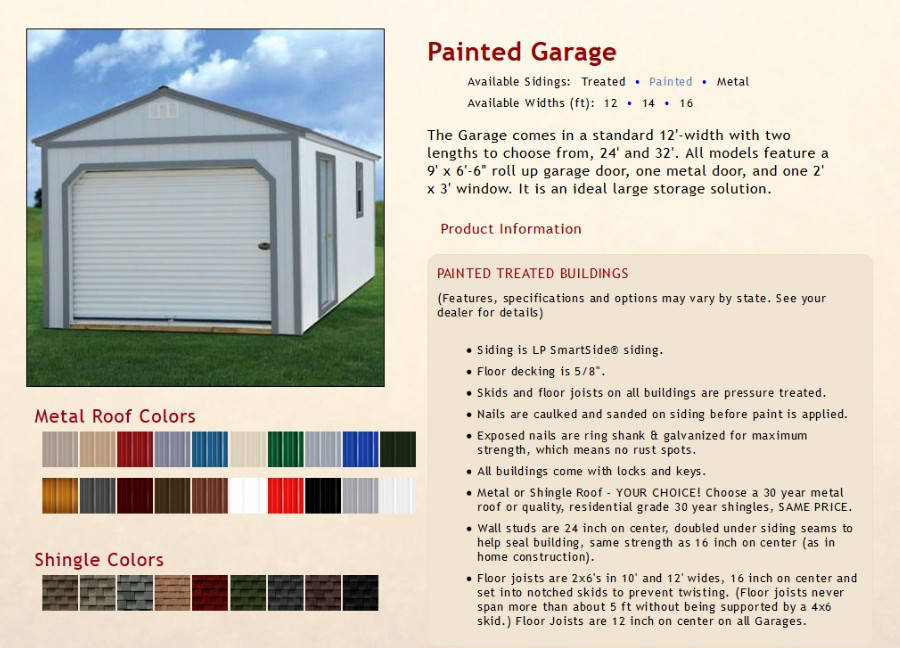 Painted Garages Texas Quality Buildings