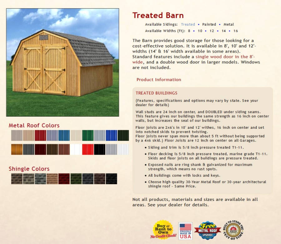 Treated Barns Texas Quality Buildings